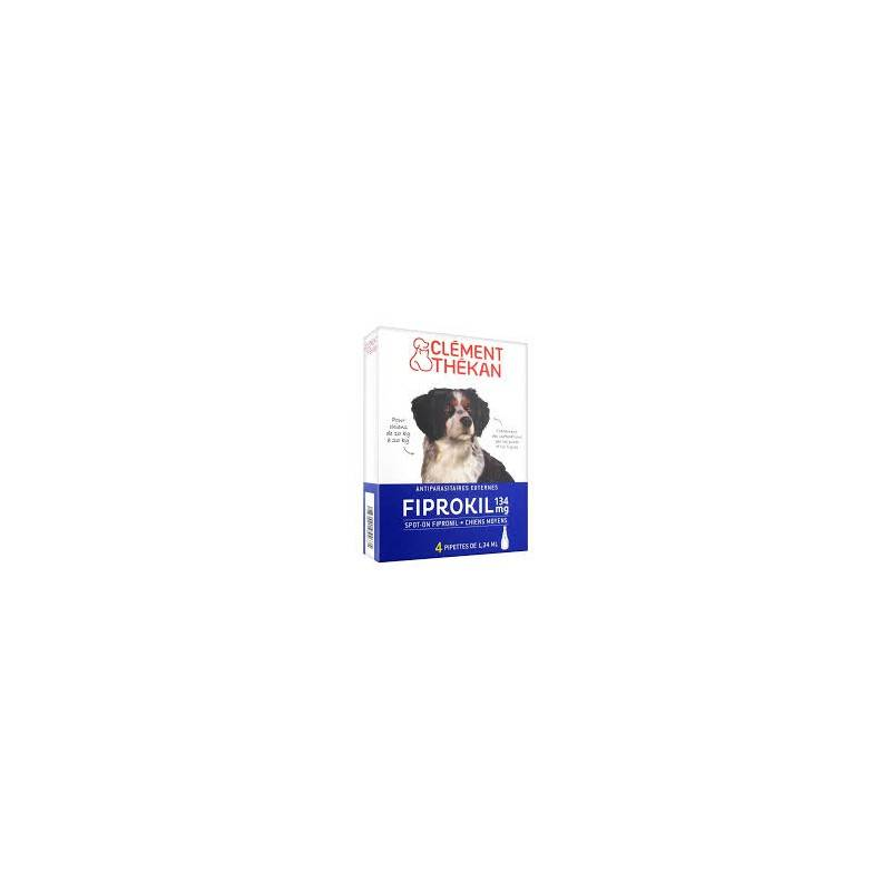 Clement thekan fiprokil chien 10/20kg pipettes x 4