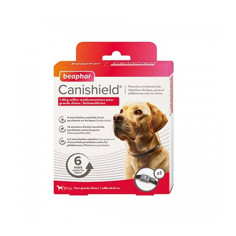 Beaphar canishield collier antiparasitaires grands chiens