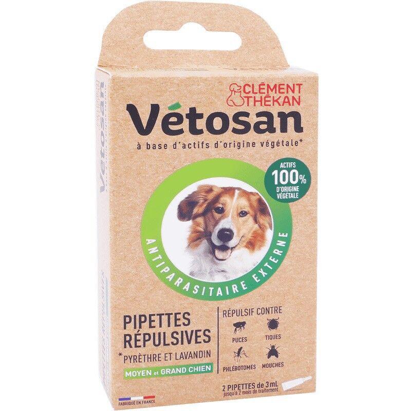 Clement Thekan Vetosan Pipettes répulsives moyen et grand chien - 2 x 3ml