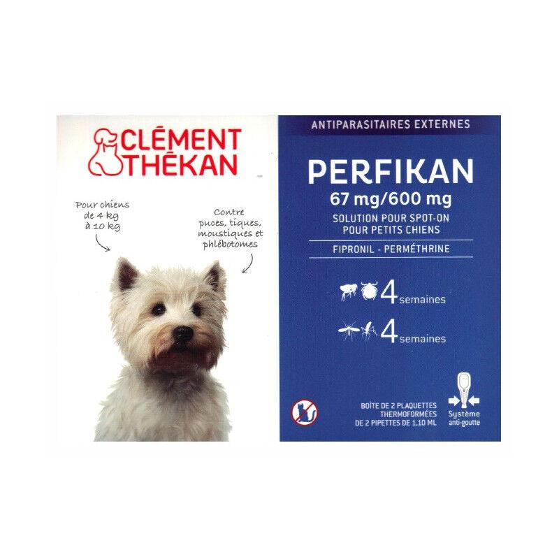 Clement Thekan Clément Thékan Perfikan Antiparasitaires Chiens de 4 à 10kg - 4 pipettes