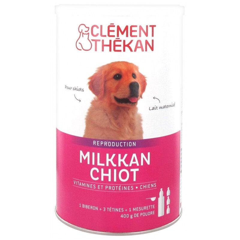 Clement Thekan Clément Thékan Milkkan Chien Lait maternisé 400g + Biberon et tétines