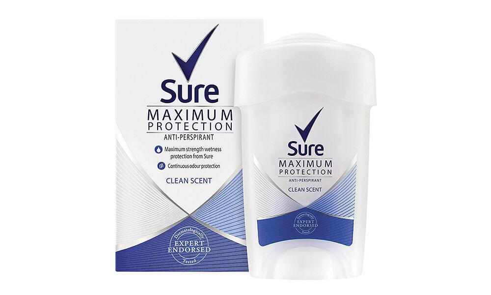 SURE Crème déodorante anti-transpirante Clean Scent 45ml pour femmes : 6