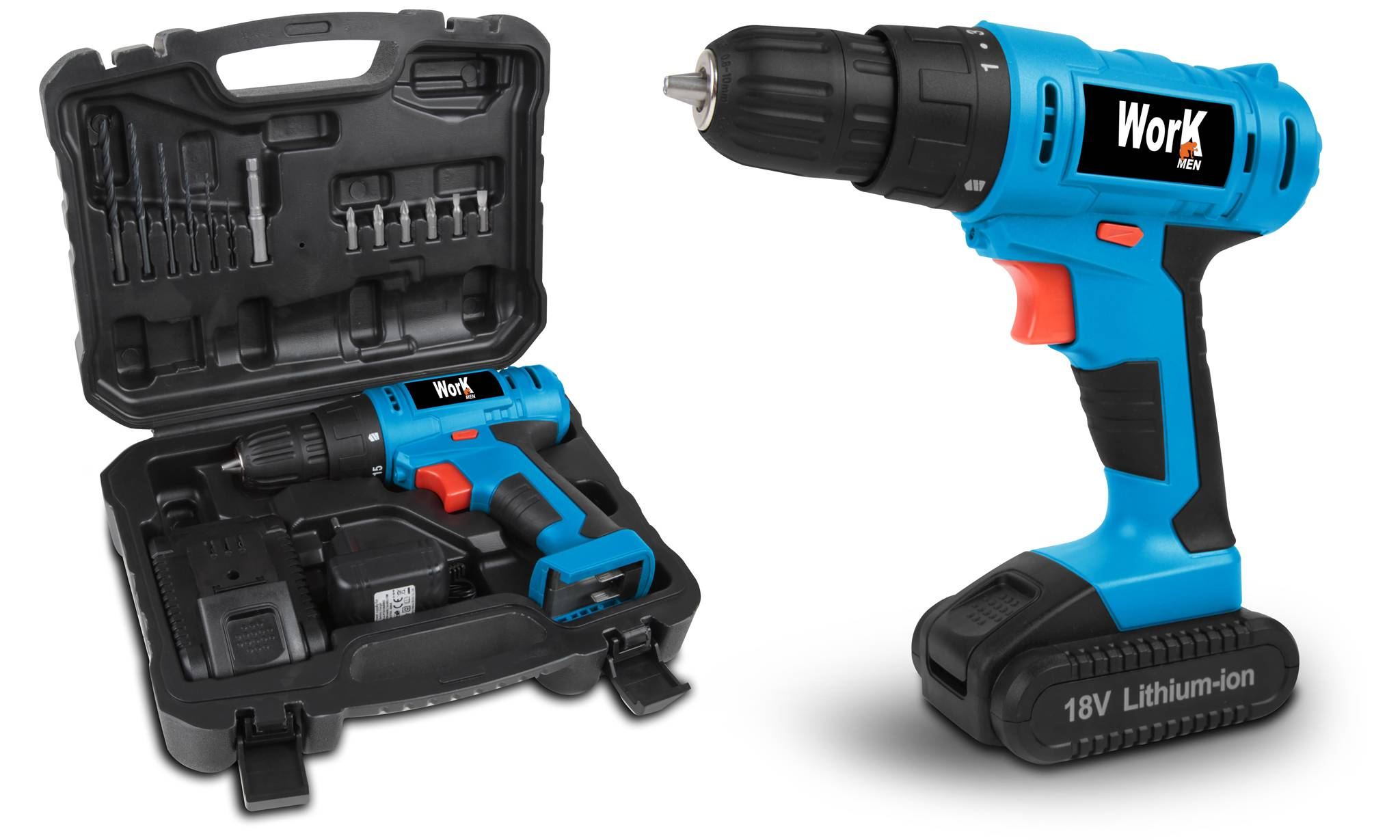 Groupon Goods Perceuse visseuse 18V Lithium - Work Men