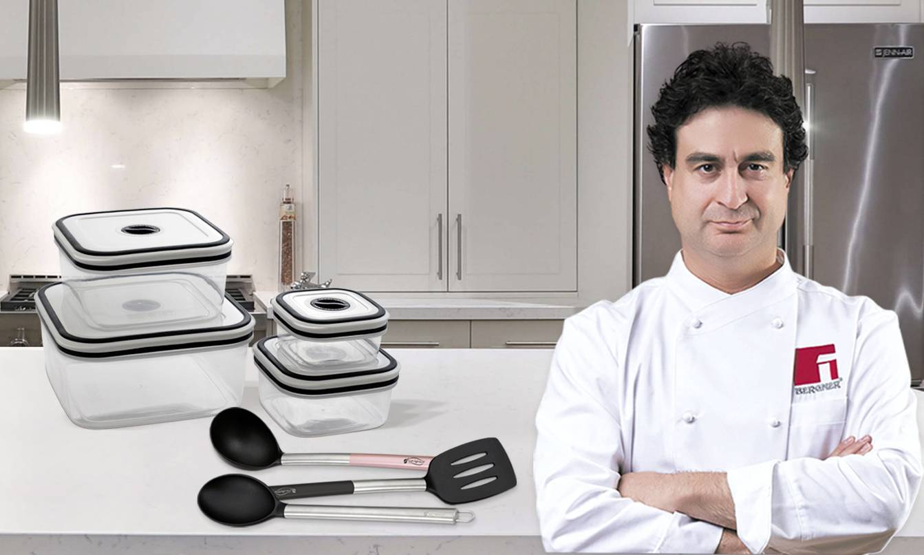 "San ignacio Set of 4 lunchboxes and 3 kitchen utensils San Ignacio ""Vita"" collection"