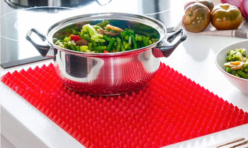 Groupon Goods Tapis de cuisson pour four ou micro-ondes style pyramide : 2