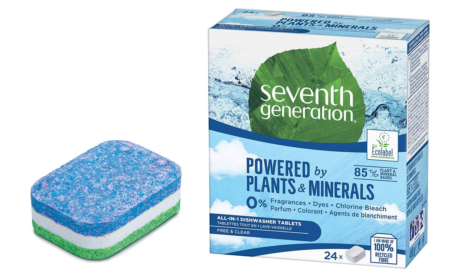 Seventh generation 96 Dishwashing Tablets Free and Clear