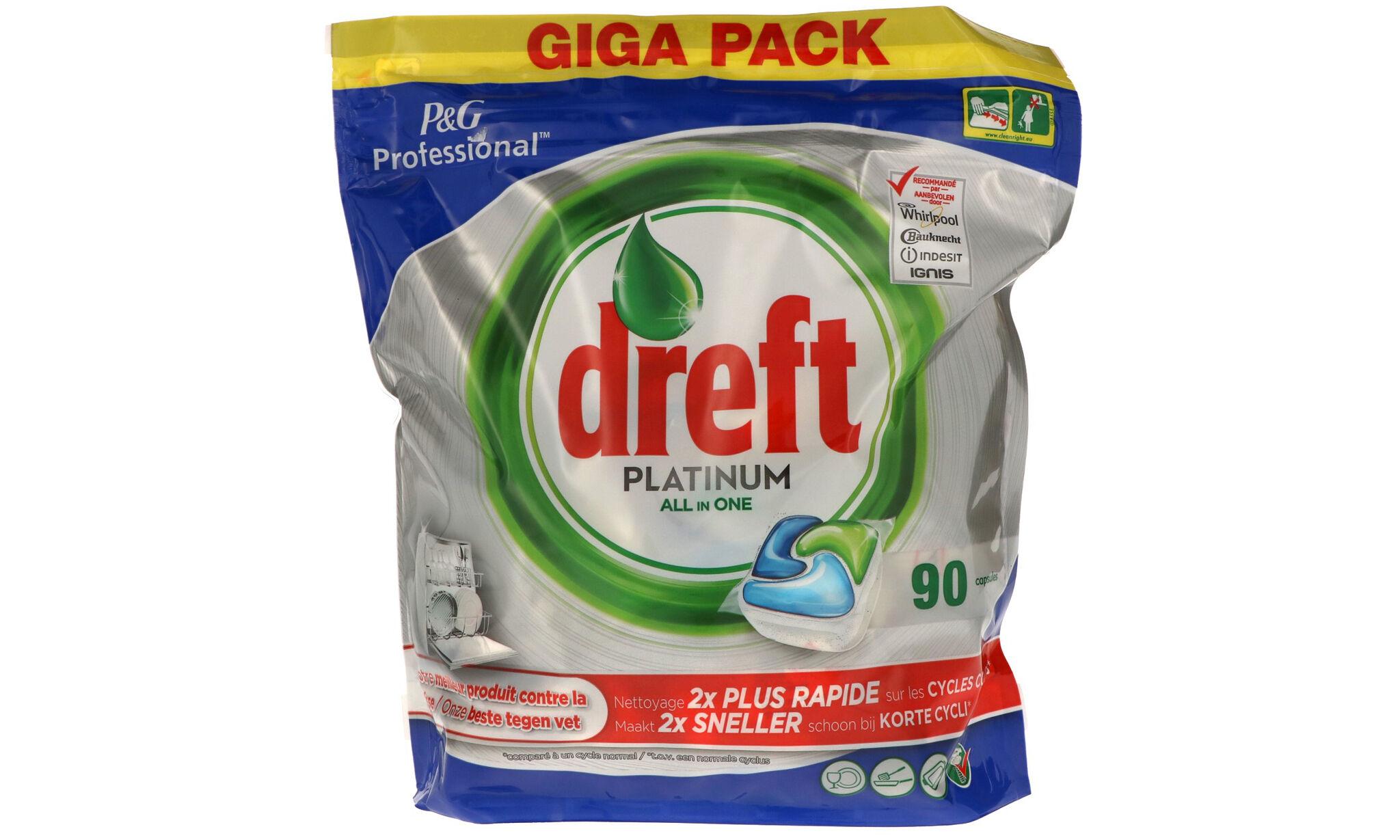 DREFT 6 paquets de 90 tablettes Platinum All in One Dreft : 540 tablettes /