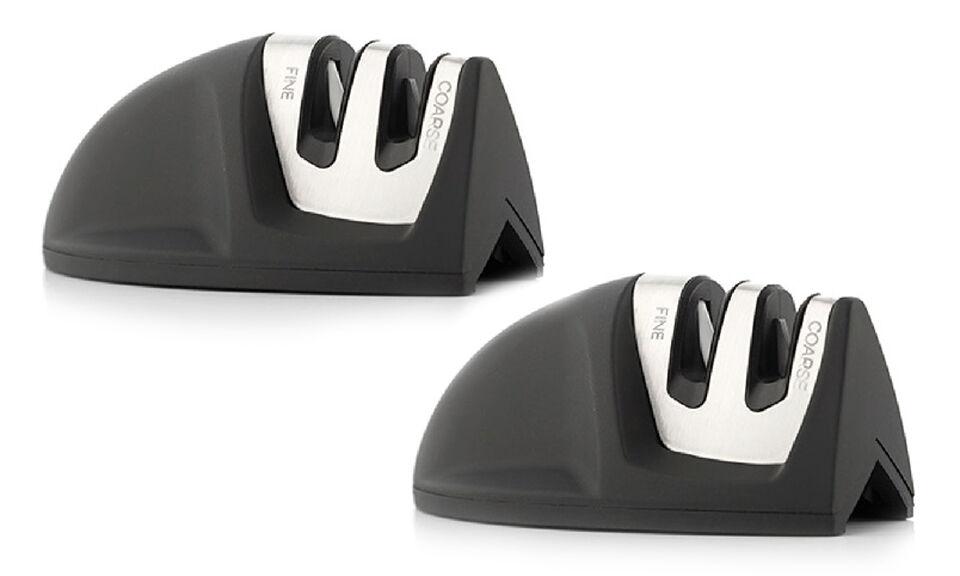 Groupon Goods Mini Kitchen Knife Sharpener - Fine and Coarse 2 Black