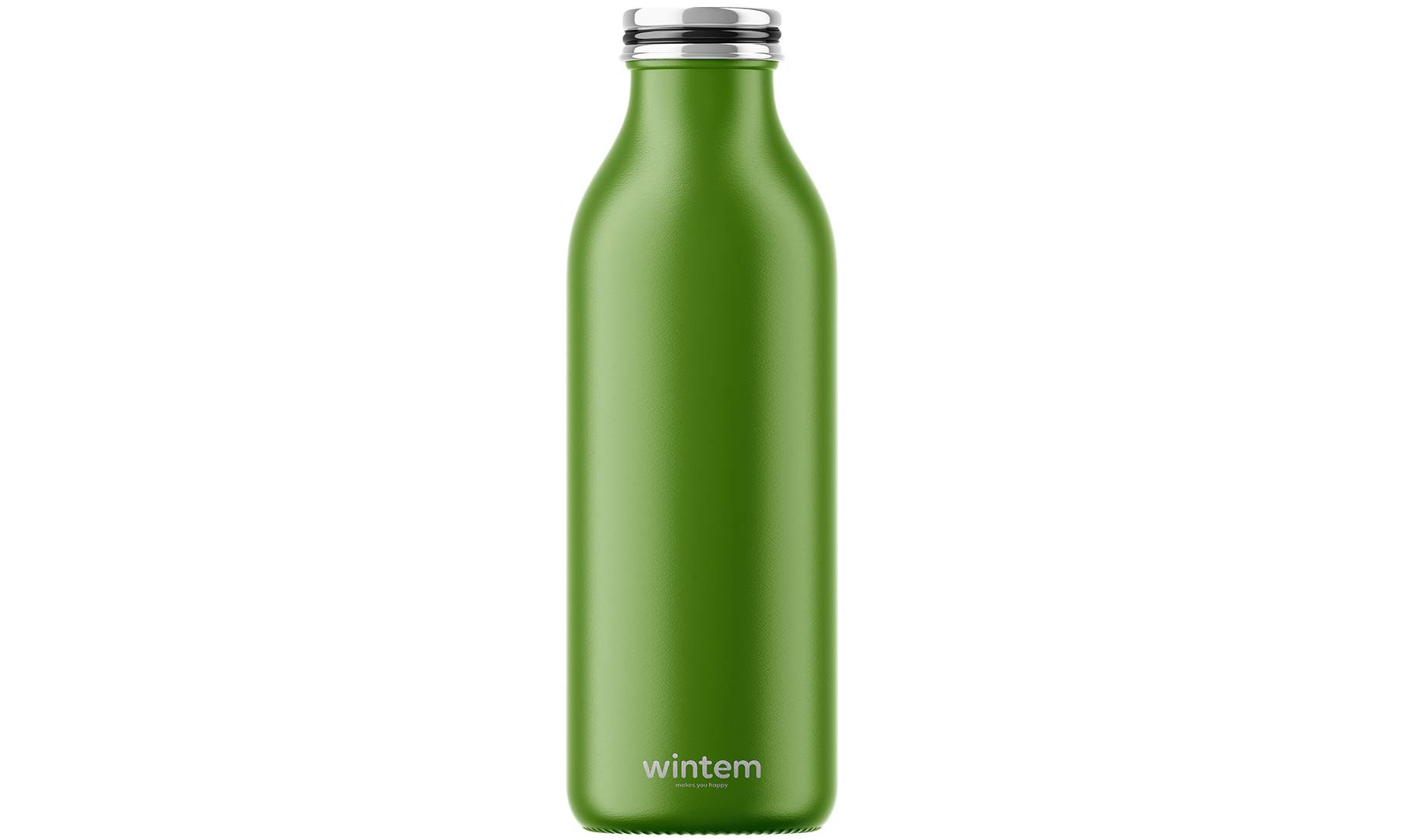 Wintem Bouteille isotherme de voyage en inox : vert