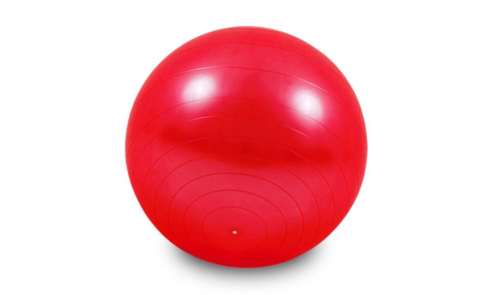 Groupon Goods Ballon de gym, fitness, yoga 65 cm : rouge