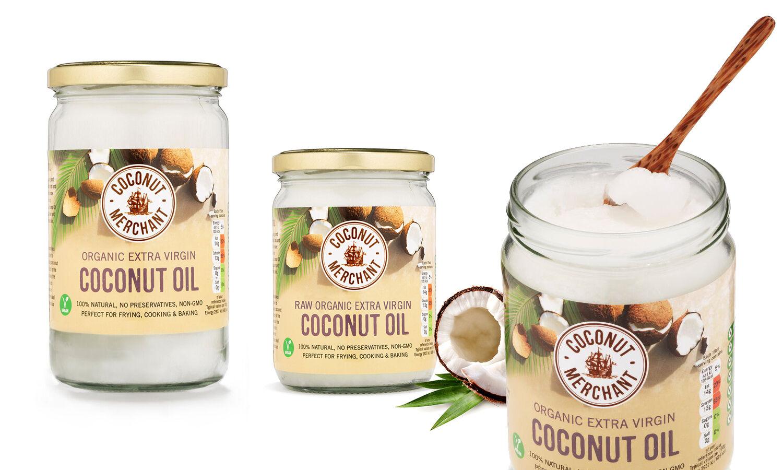 Coconut Merchant Huile de noix de coco Bio : 500 ml
