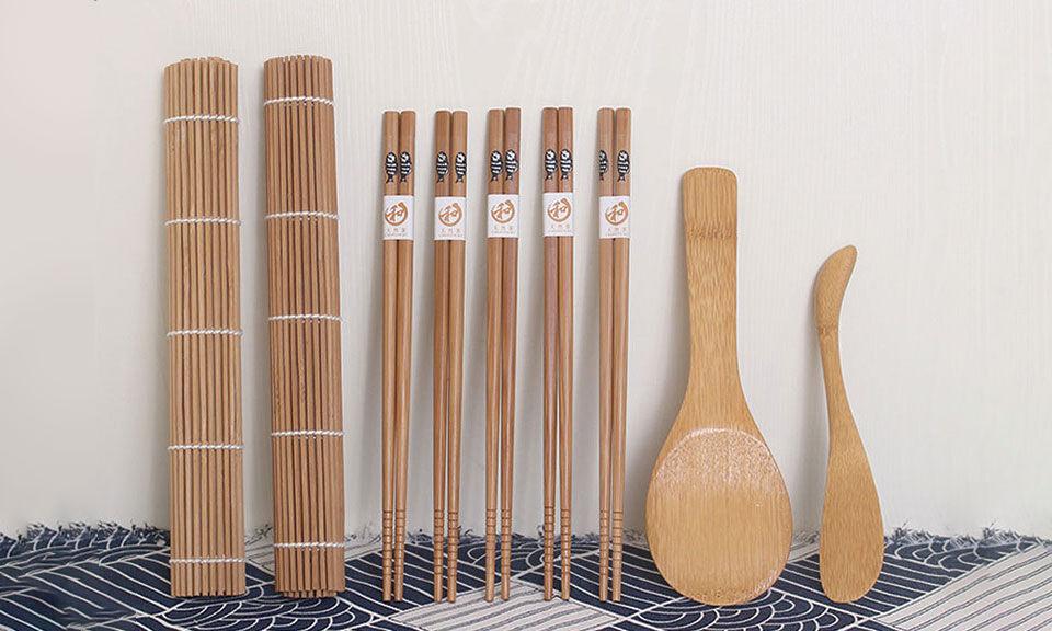 Groupon Goods 3x Kit de fabrication de sushi en bambou