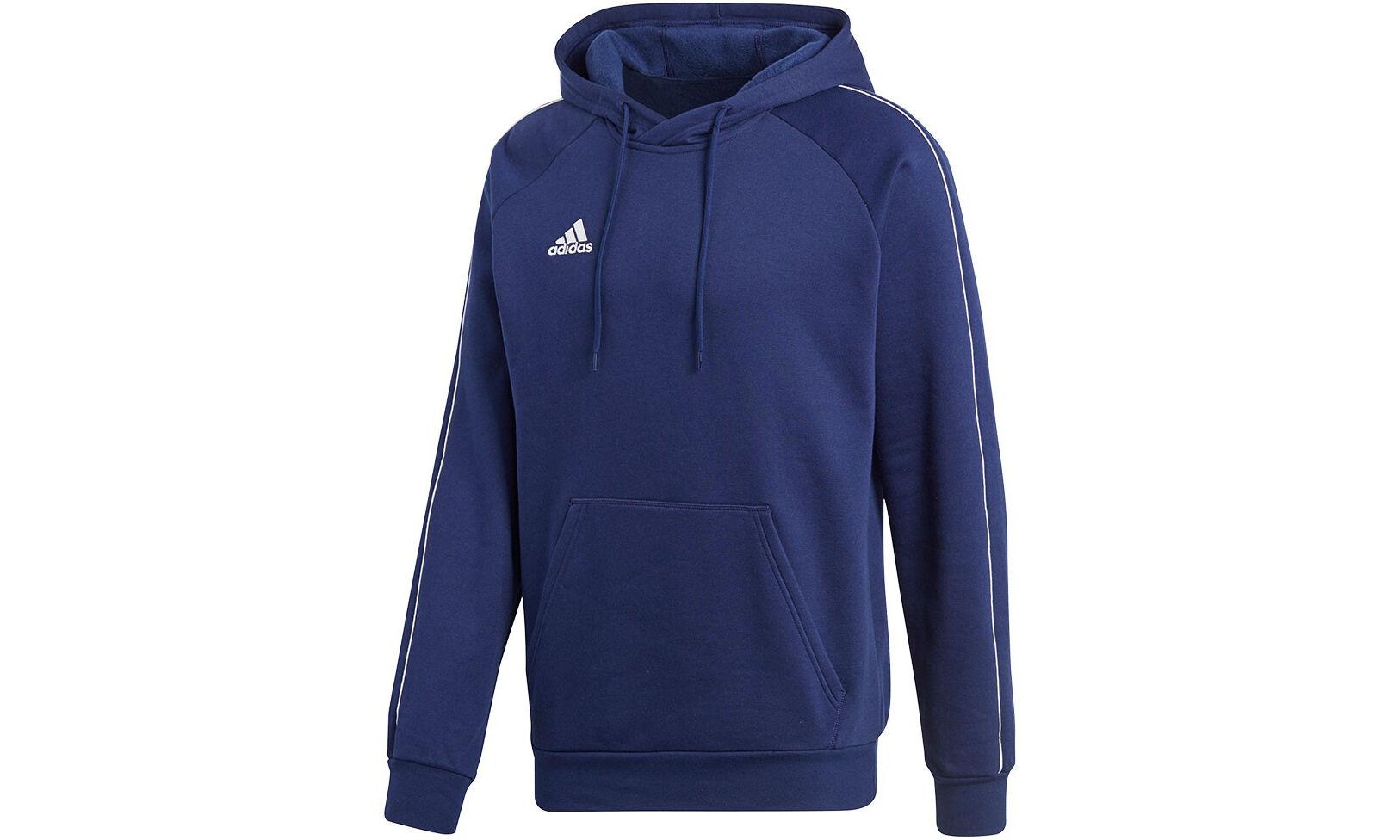 Adidas Sweat à capuche Adidas Core 18 : bleu foncé-blanc / Sweat / taille M