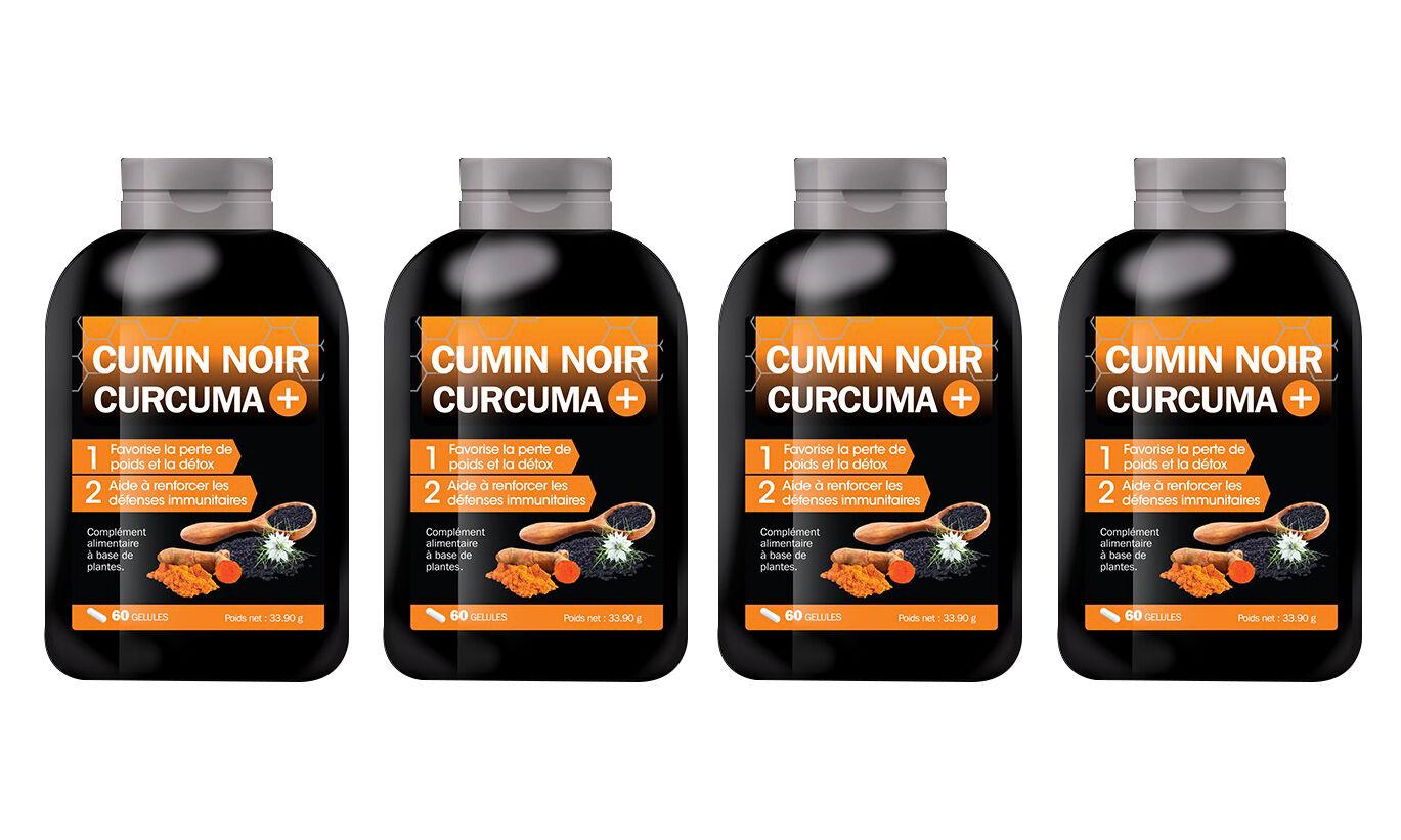 Groupon Goods Cumin Noir Curcuma + : 4 mois (240 gélules)