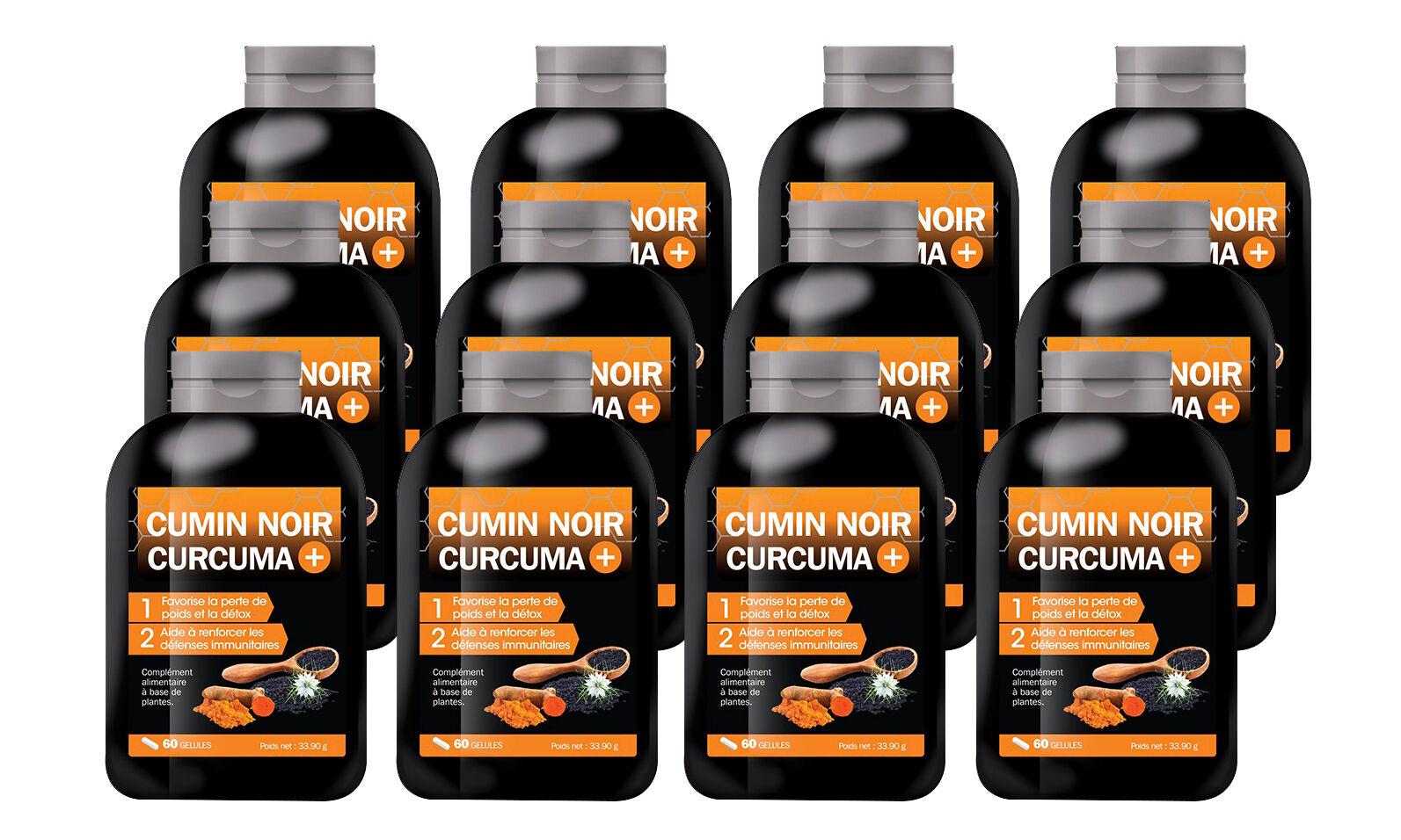 Groupon Goods Cumin Noir Curcuma + : 12 mois (720 gélules)