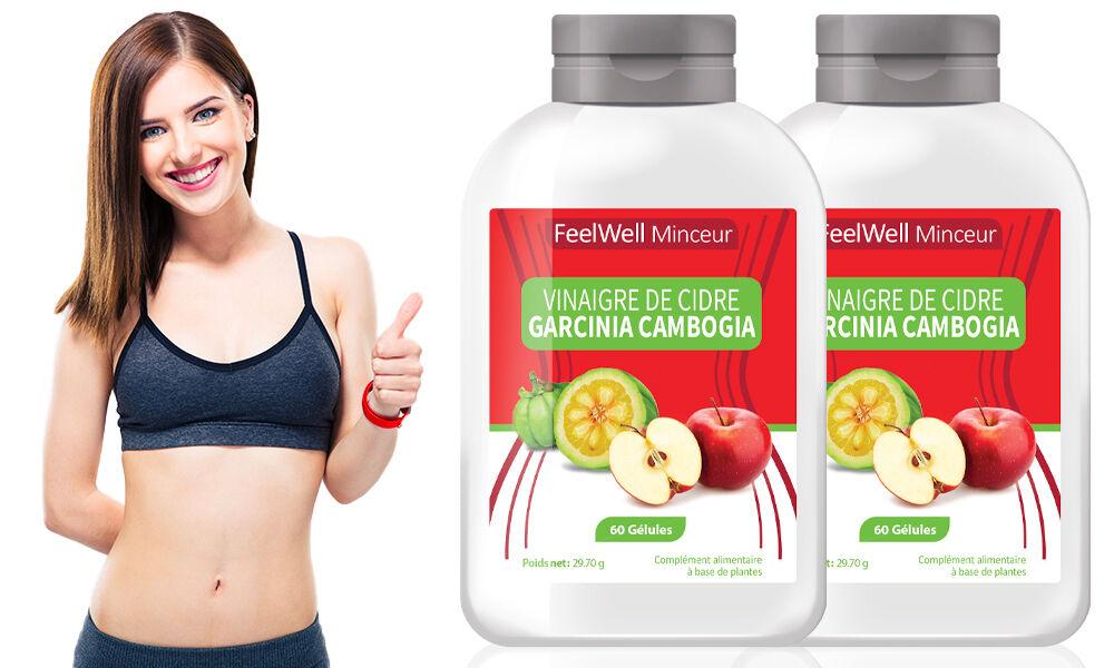 Groupon Goods Cure minceur Vinaigre de Cidre et Garcinia Cambogia : 2 mois (120