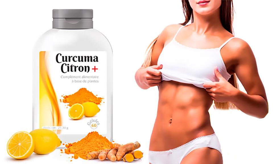 Groupon Goods Cure minceur curcuma citron : 60 jours - 120 capsules