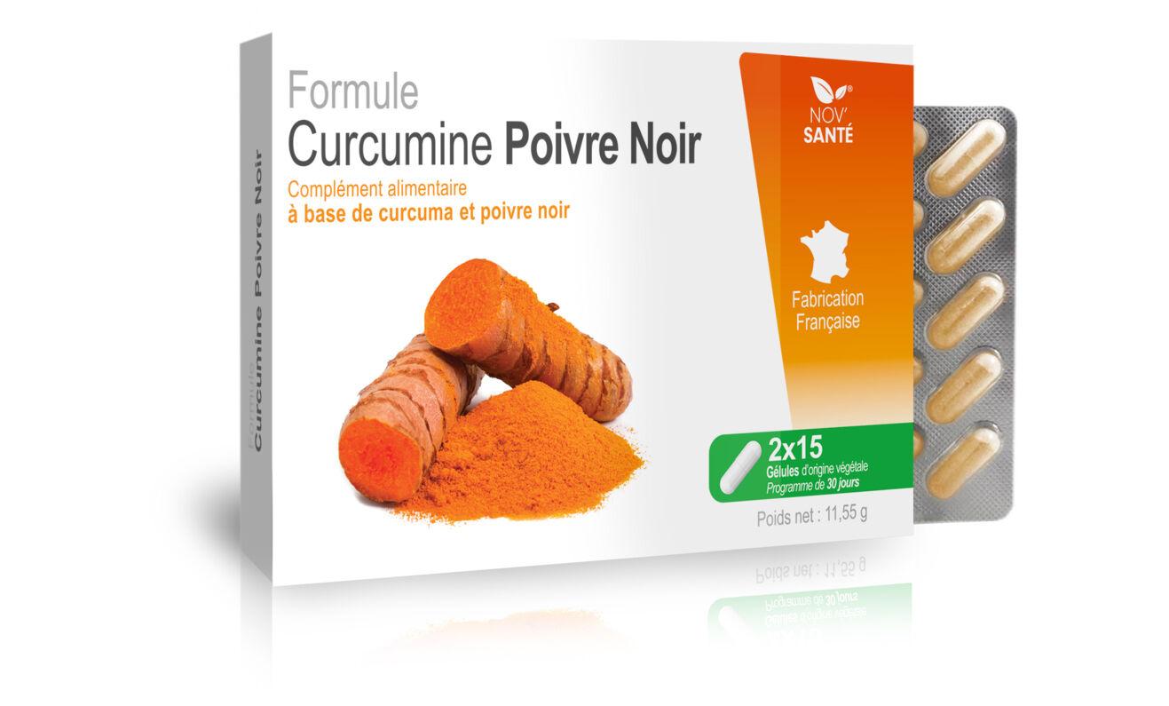 Nov'santé Formule alimentaire Nov'Santé à base de curcuma et poivre noir : 1 mois