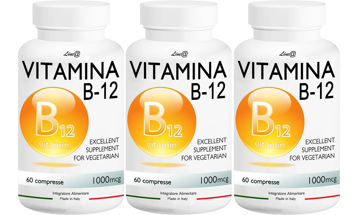 Groupon Goods Vitamines B12 : 30 comprimés