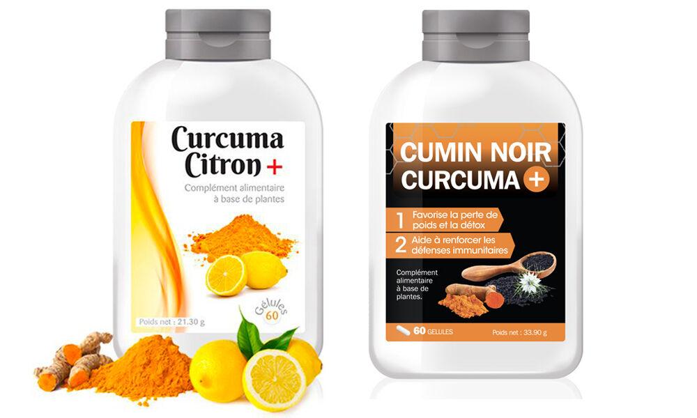 Groupon Goods Cure curcuma citron et cumin noir : 1 mois - 120 Capsules