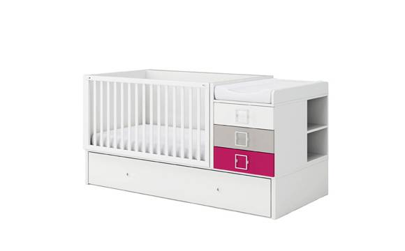 MEUBLES ROS Lit bébé convertible nº15 avec lit tiroir