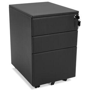Alterego Caisson de rangement 'DALI' noir à tiroirs pour bureau - Publicité