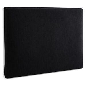 Alterego Tête de lit 'TIESTO' 160 avec revêtement en tissu noir - Publicité
