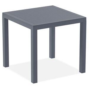 Alterego Table de terrasse 'CANTINA' design en matière plastique gris foncé - 80x80 cm - Publicité