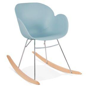 Alterego Chaise à bascule design 'BASKUL' bleue en matière plastique - Publicité