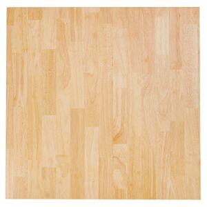 Alterego Plateau de table 'MASSIVO' carré en bois massif - 70x70 cm - Publicité