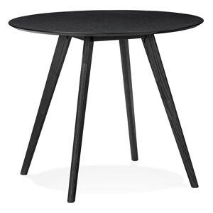 Alterego Table de cuisine ronde 'MIDY' noire style scandinave - ø 90 cm - Publicité