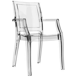Alterego Chaise design 'NALA' transparente en matière plastique - Publicité