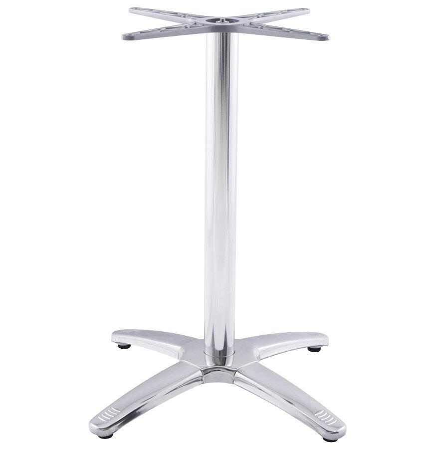 Alterego Pied de table 'CHIKO' 75 en métal chromé pour intérieur et extérieur