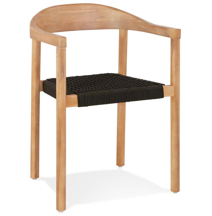 Alterego Chaise design 'CORDON' en bois intérieur / extérieur - commande par 2 pièces / prix pour 1 pièce