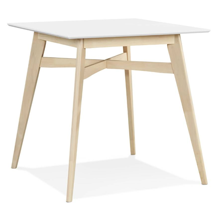 Alterego Mange-debout 'DORA' en bois blanc et finition naturelle