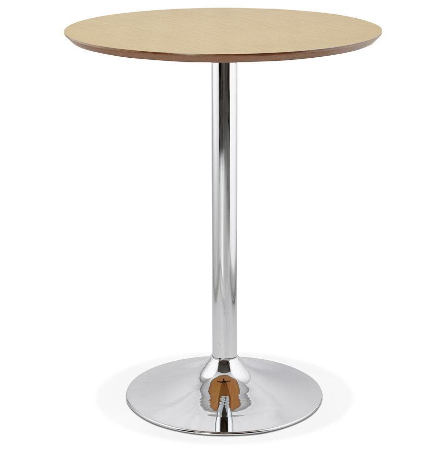 Alterego Mange-debout / table haute 'LIMA' en bois finition naturelle - Ø 90 cm