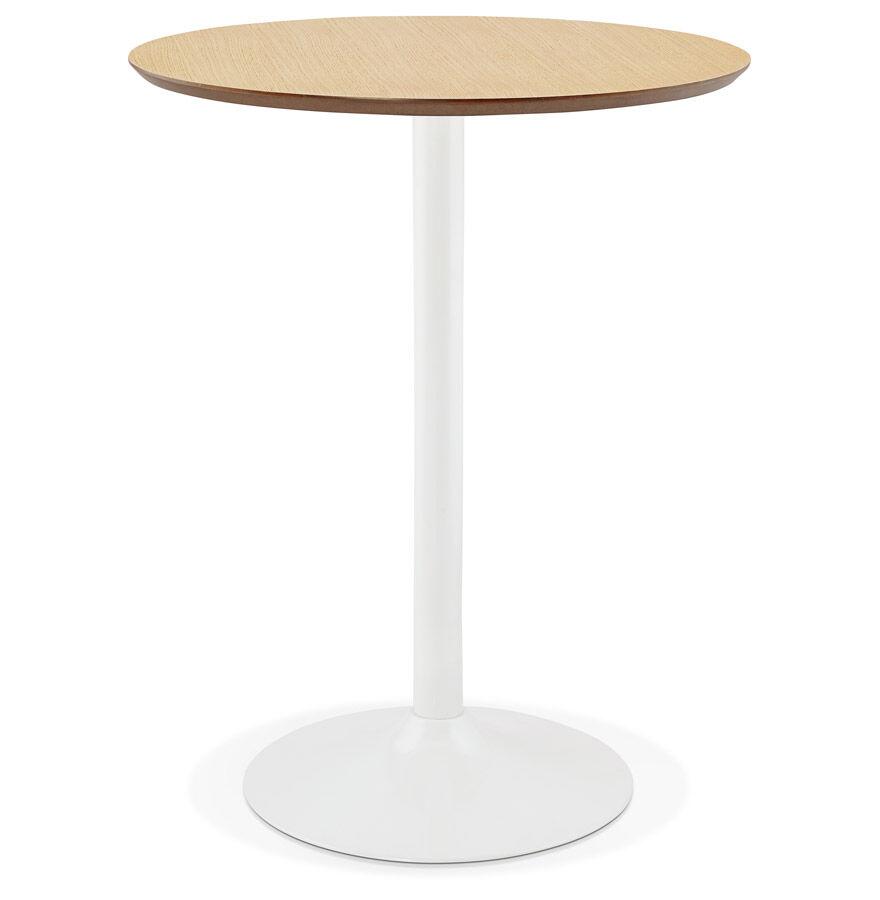 Alterego Mange-debout / table haute 'MADISON' en bois finition naturelle - Ø 90 cm