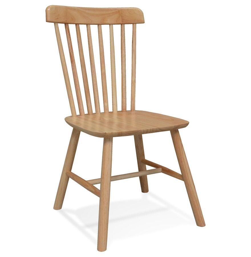 Alterego Chaise design 'MONTANA' en bois finition naturelle - commande par 2 pièces / prix pour 1 pièce