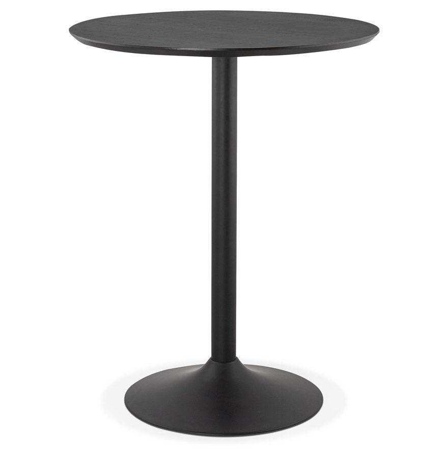 Alterego Mange-debout / table haute 'OSTERIA' noire - Ø 90 cm
