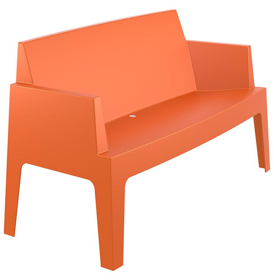 Alterego Banc de jardin 'PLEMO XL' orange en matière plastique