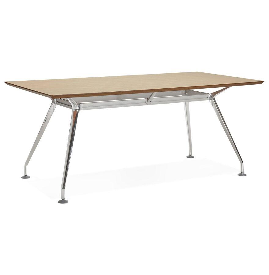 Alterego Grand bureau / table de réunion 'STATION' en bois finition naturelle - 180x90 cm