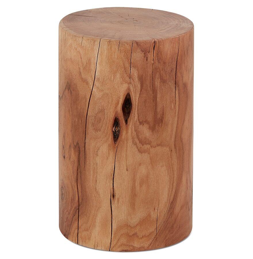 Alterego Table d'appoint / Tabouret tronc d'arbre 'STOLY' en bois massif finition naturelle