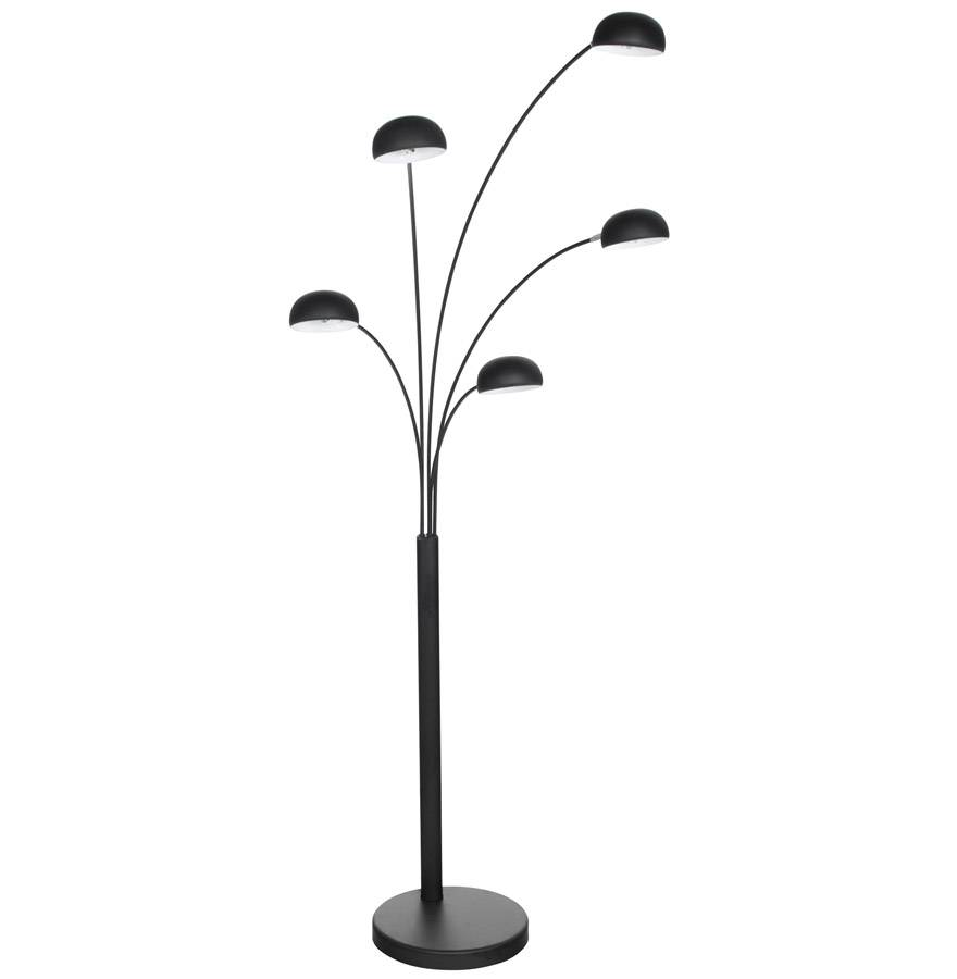 Alterego Lampadaire 5 branches 'FIVE BOWS' noir