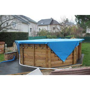 Bâches Direct Bache piscine 700 g/m² avec filet d'écoulement - Bache bicolore - 6 x 10 m - couverture piscine - baches piscine - Publicité