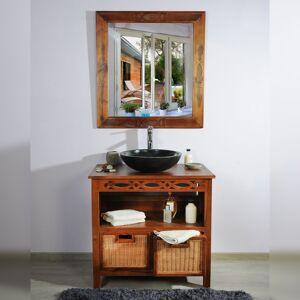 Saniteck Meuble salle de bain teck 85 attessam - Publicité