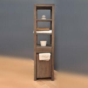 Saniteck Colonne salle de bain teck grey - Publicité