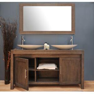 Saniteck Meuble salle de bain teck 140 A3 - Publicité