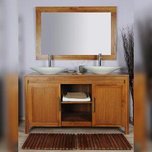 Saniteck Meuble salle de bain teck 140 naturel - Publicité