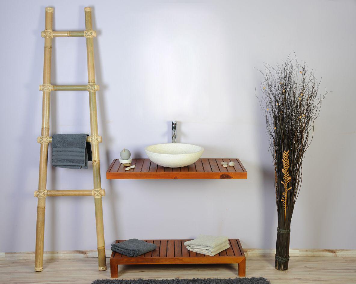 Saniteck Meuble salle de bain teck 100 gempo