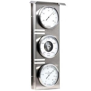 Fischer Baromètre Thermo Hygro GEANT d´exterieur inox brossé ( 510 mm de haut) Fischer F-823-01 - Publicité